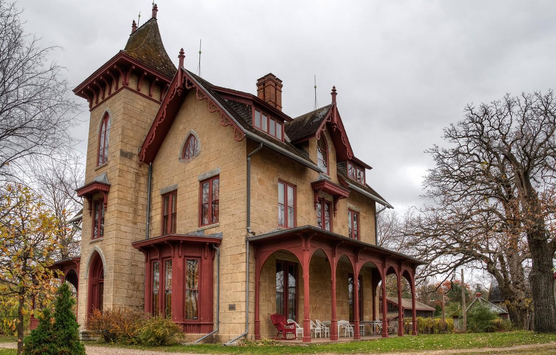 Фото обои дом, двор, особняк