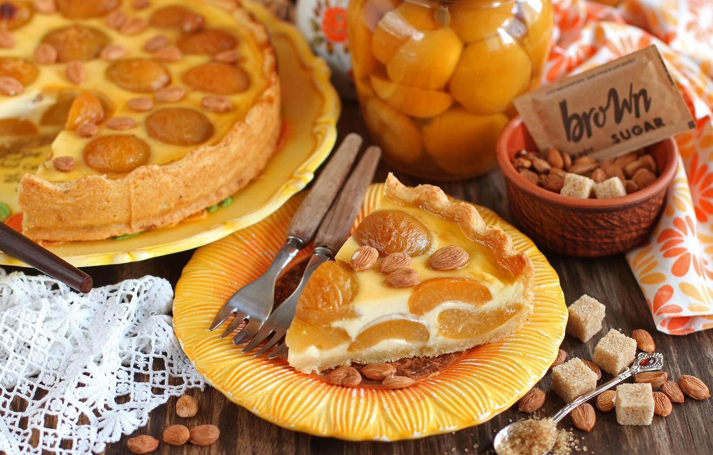 Обои пирог, выпечка, абрикосы. Еда foto 18