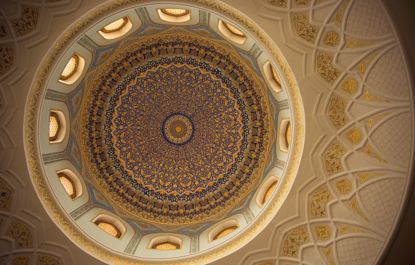 Фото обои beautiful, pattern, east, architecture, mosque, uzbekistan, architectural detail, arch, tashkent, old city, architectural, cieling, national …
