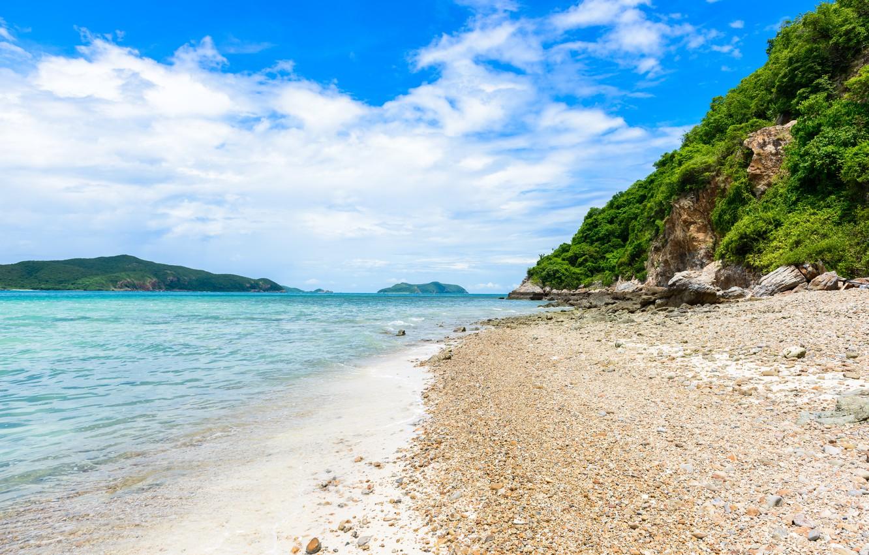Фото обои песок, море, пляж, лето, небо, солнце, берег, summer, beach, sea, seascape, beautiful, sand, paradise, tropical