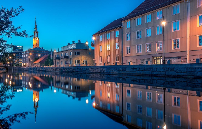 Обои Вечер, швеция, гетеборг. Города foto 9