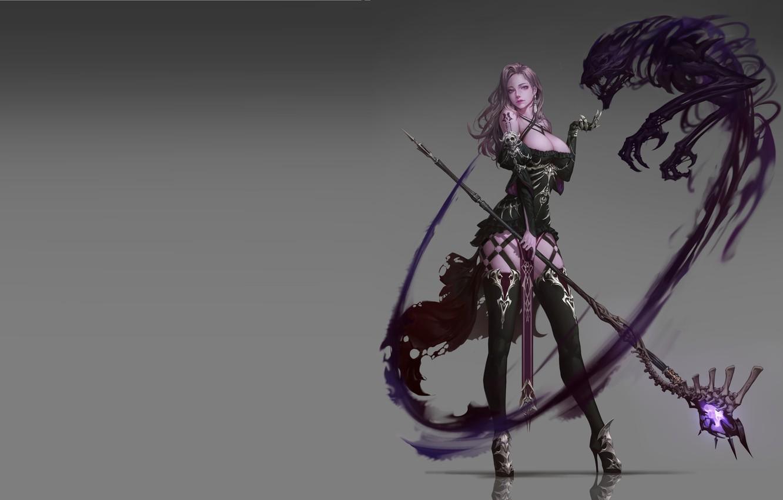 Фото обои магия, фэнтези, арт, посох, скил, дизайн костюма, Undead Mage, JeongSeok Lee