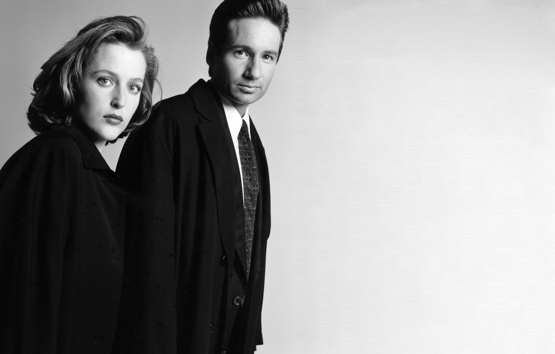 Фото обои сериал, The X-Files, Секретные материалы, Дана, Малдер