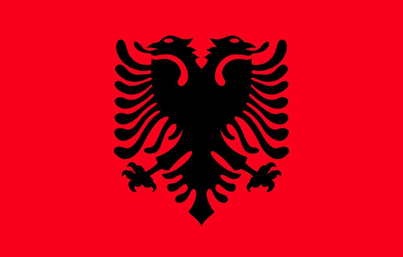 Фото обои флаг, red, орёл, black, eagle, албания, fon, flag, albania