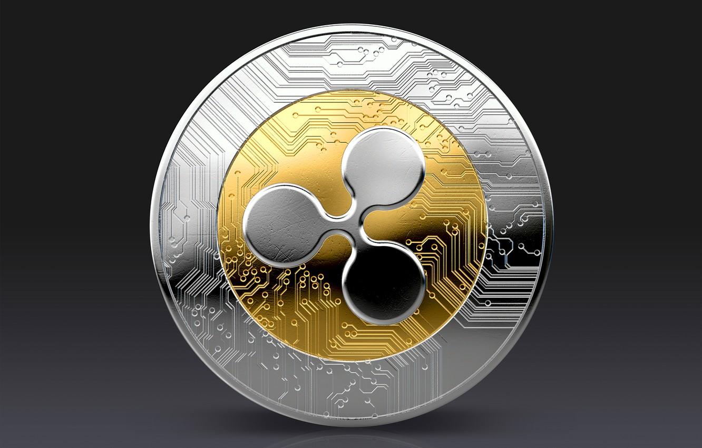 Фото обои silver, gold, монета, coin, ripple, xrp, рипл