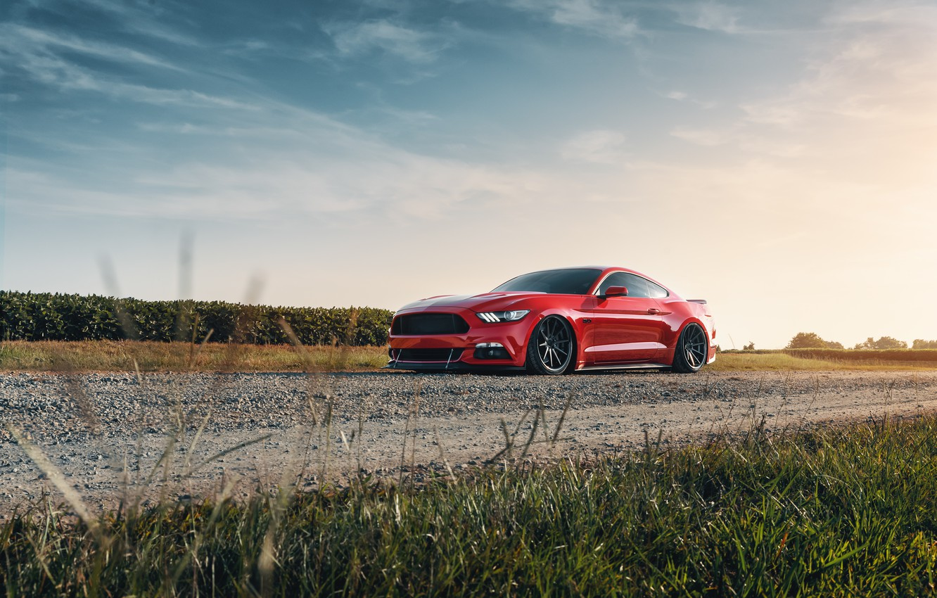 Фото обои Mustang, Ford, 2018, Mustang GT, by Jimmy Zhang