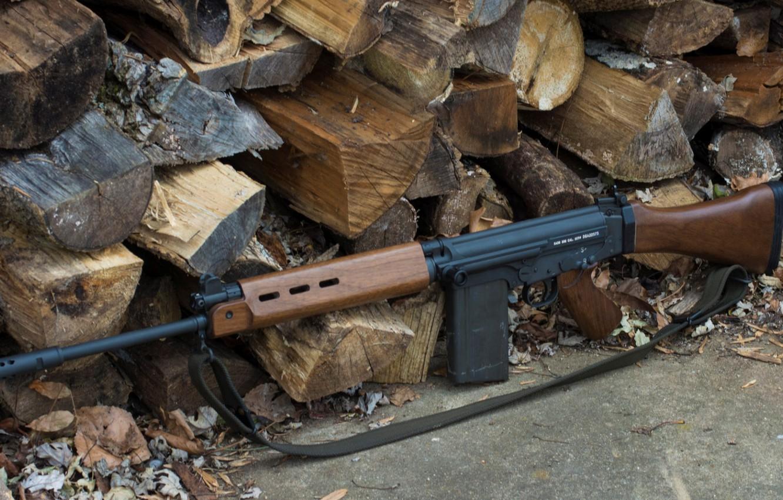 Фото обои оружие, Автомат, Gun, weapon, Штурмовая винтовка, Assault Rifle, ФН Фал, FN Fal