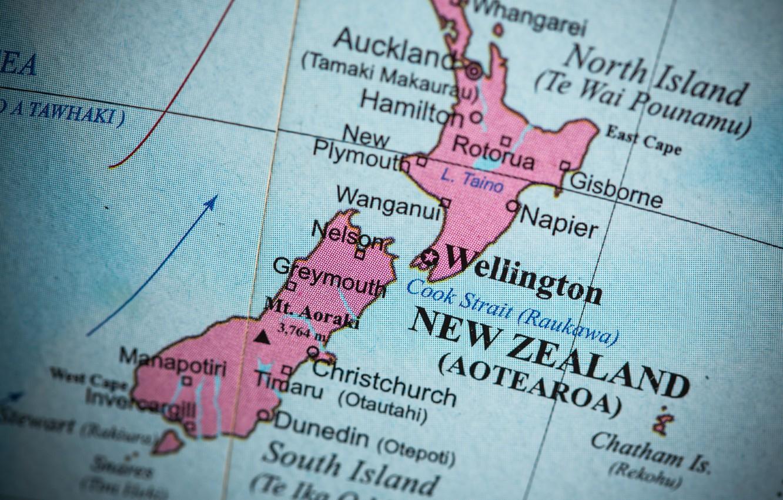 Фото обои colors, New Zealand, map, oceania