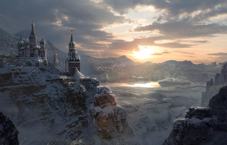 Фото обои Кремль, Русская зима, Russian Winter, Lina Sidorova