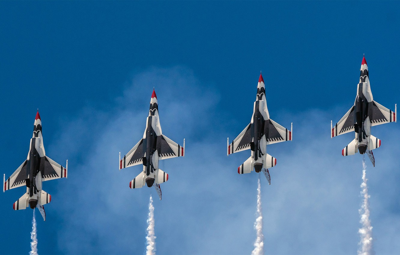 Фото обои США, ВВС, эскадрилья, 'Буревестники'