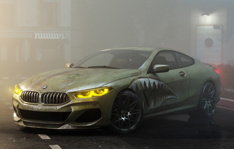 Фото обои рендеринг, BMW, 8-Series, BMW M8, M850i, by Alexander Lukyanenko