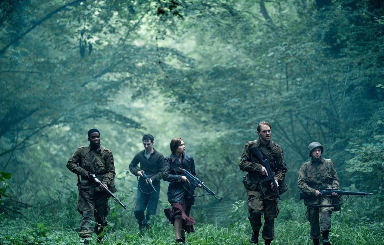 Фото обои soldiers, nature, army, films, weapons, world war II, movies, Nazi, overlord, Wyatt Russell