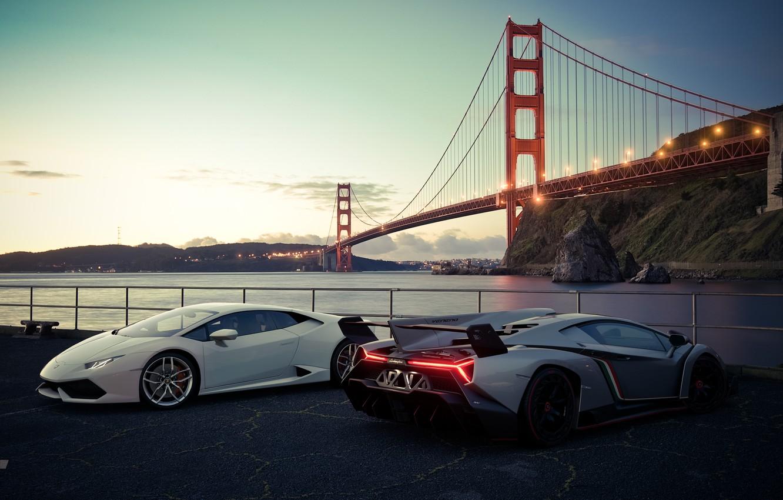 Фото обои рендеринг, Lamborghini, Сан-Франциско, Gran Turismo, Veneno, Huracan, Gran Turismo Sport