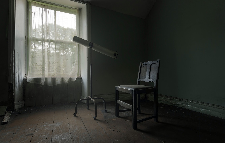 Фото обои космос, труба, стул