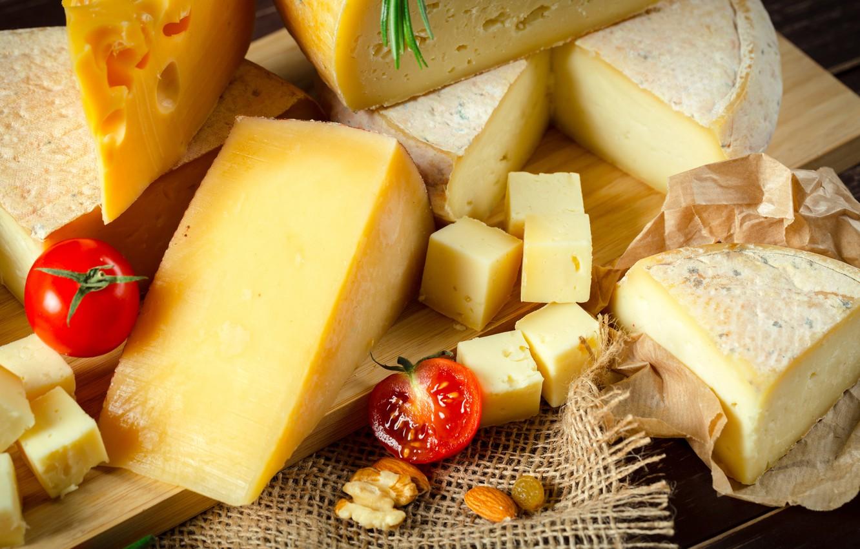 Фото обои сыр, натюрморт, помидорки