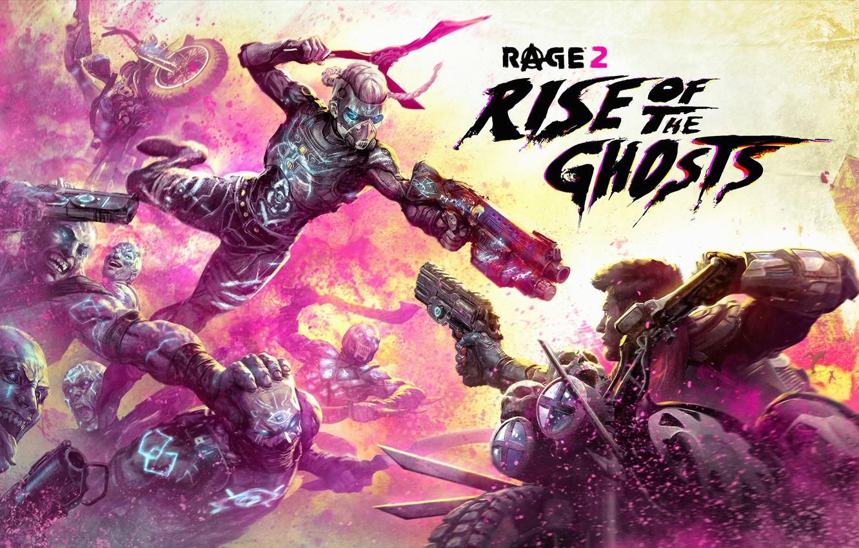 Фото обои Оружие, Маска, Bethesda Softworks, Персонаж, Video Game, id Software, Мотоциклисты, Rage 2, Rise of the …