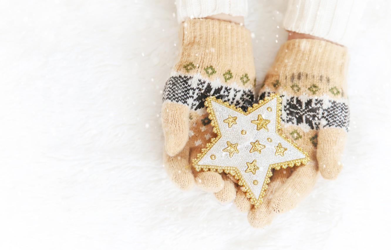 Фото обои зима, снег, снежинки, звезда, love, christmas, star, pink, winter, варежки, snow, hands, snowflakes