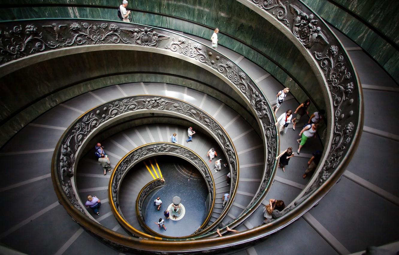 Фото обои Ватикан, винтовая лестница, музеи