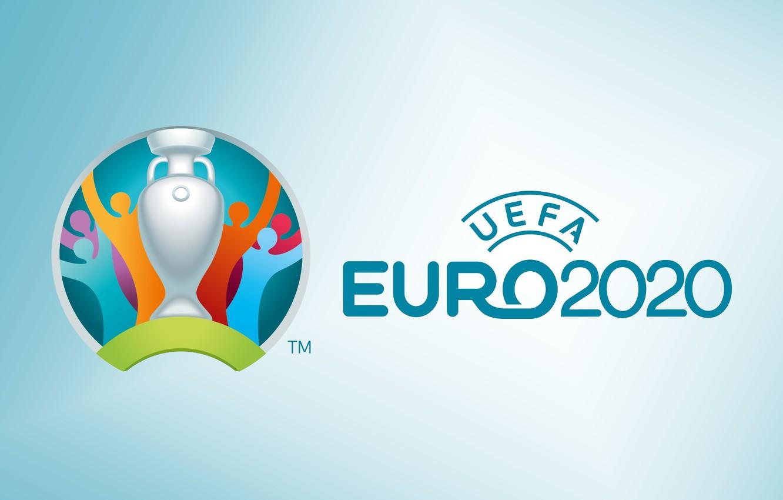 Фото обои sport, logo, cup, soccer, Uefa, simple background, 2020, official logo, Euro 2020