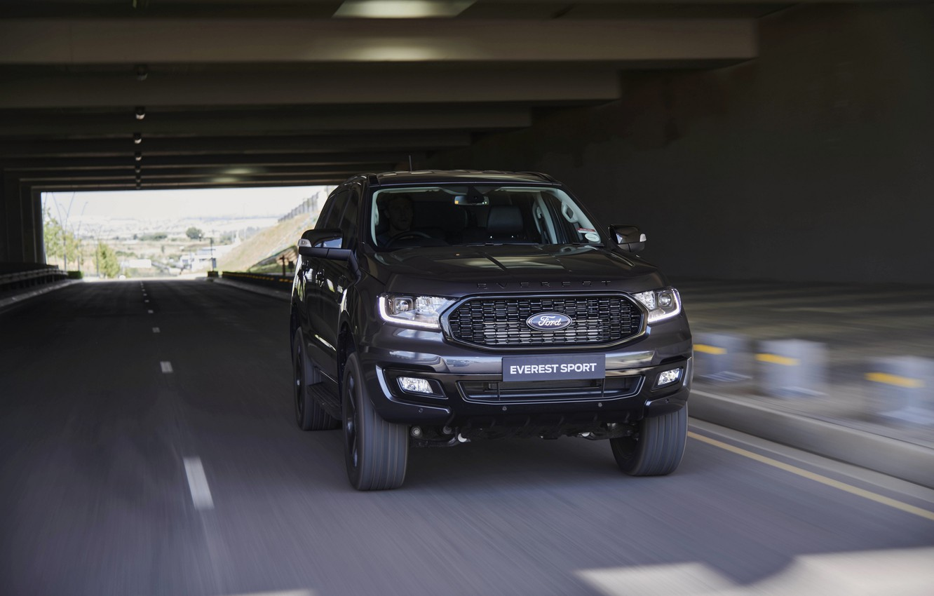 Фото обои Ford, в движении, Sport, Everest, 4WD, 2021