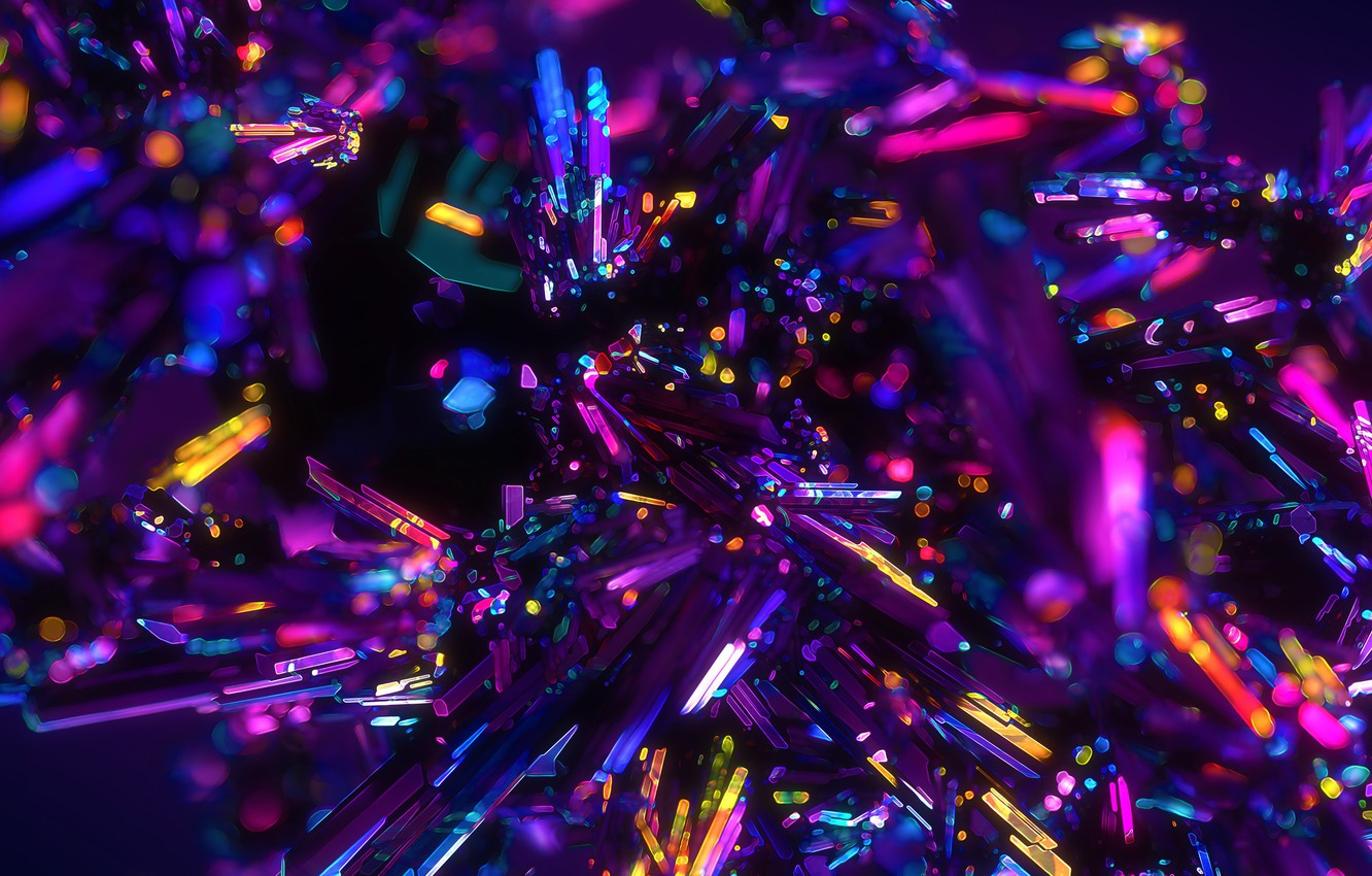 Фото обои colors, colorful, crystals