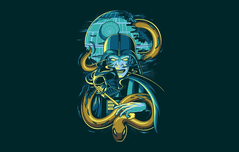 Фото обои Star Wars, Fantasy, Art, Darkness, Snake, Vector, Harry Potter, Background, Illustration, Minimalism, Animal, Voldemort, Angga …