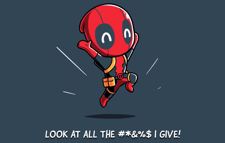Фото обои фон, малыш, арт, костюм, комиксы, Deadpool, Дедпул