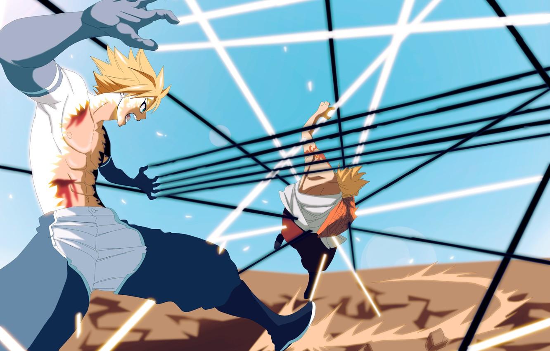 Фото обои линии, парни, Fairy Tail, Хвост Феи