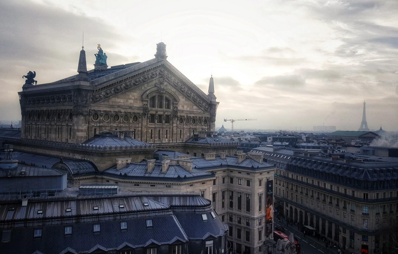 Фото обои город, Париж, архитектура