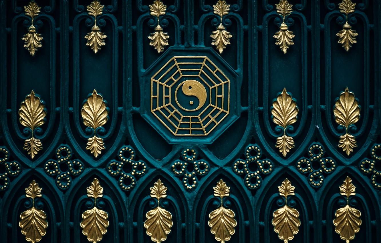 Фото обои фон, узоры, текстура, ворота, восток, дзен, инь-ян, буддизм