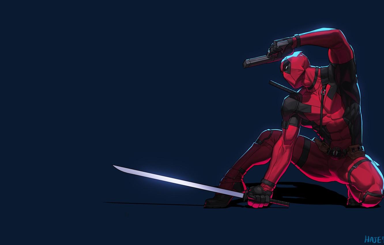 Обои пистолет, маска, Deadpool. Фантастика foto 11