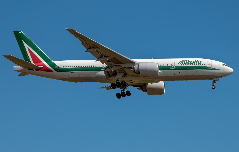 Фото обои Boeing, Alitalia, 777-200ER