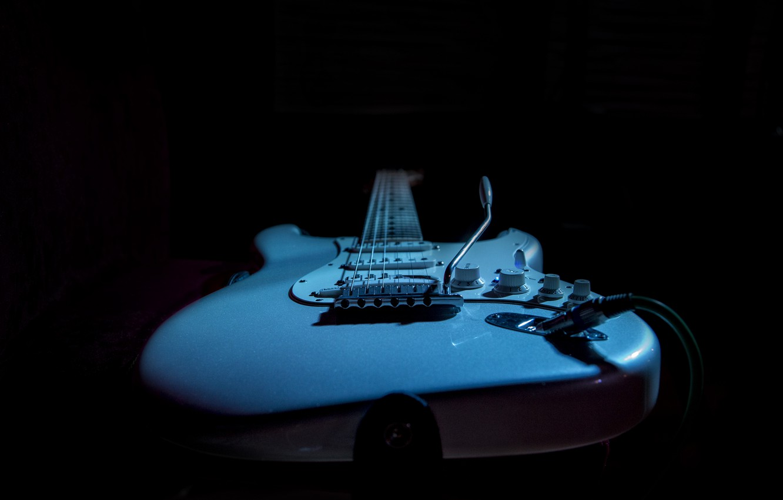 Фото обои music, guitar, Fender, electric guitar, Kide &JC, intimate light