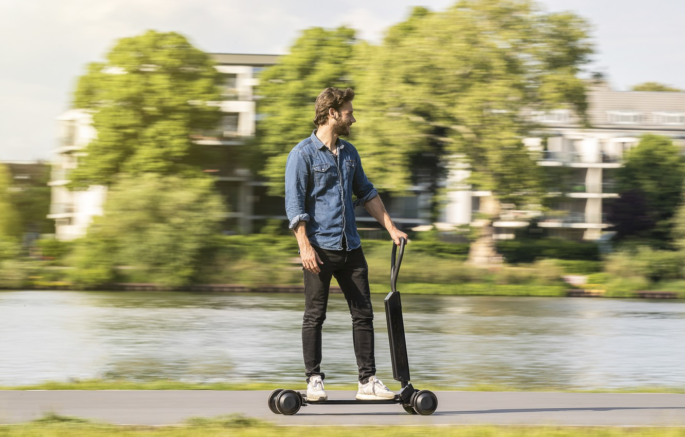 Фото обои Audi, Ауди, concept, концепт, e-scooter, electric scooter, functionality and style for the last mile, Audi …