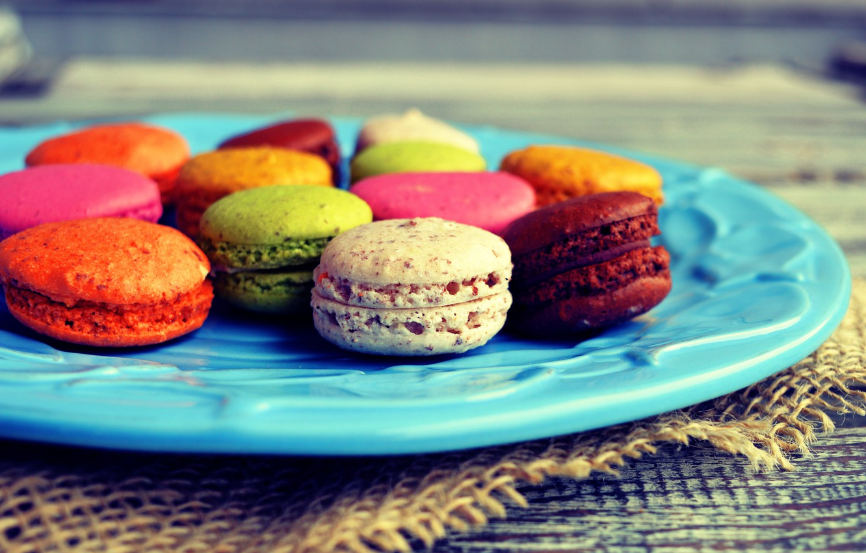 Фото обои colorful, десерт, сладкое, sweet, dessert, cookies, macaron, almond, макаруны