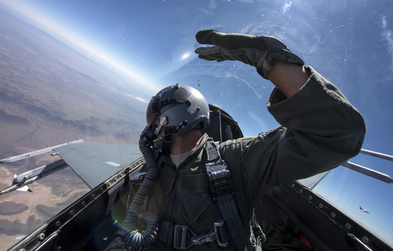 Обои fighting falcon, истребитель, F-16c, кабина. Авиация foto 8