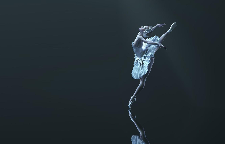 Фото обои рендеринг, арт, балерина, Flying, Qi Sheng Luo, вытсупление