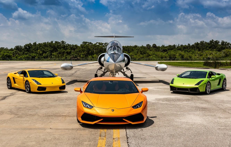 Фото обои Lamborghini, Gallardo, Airplane, Huracan