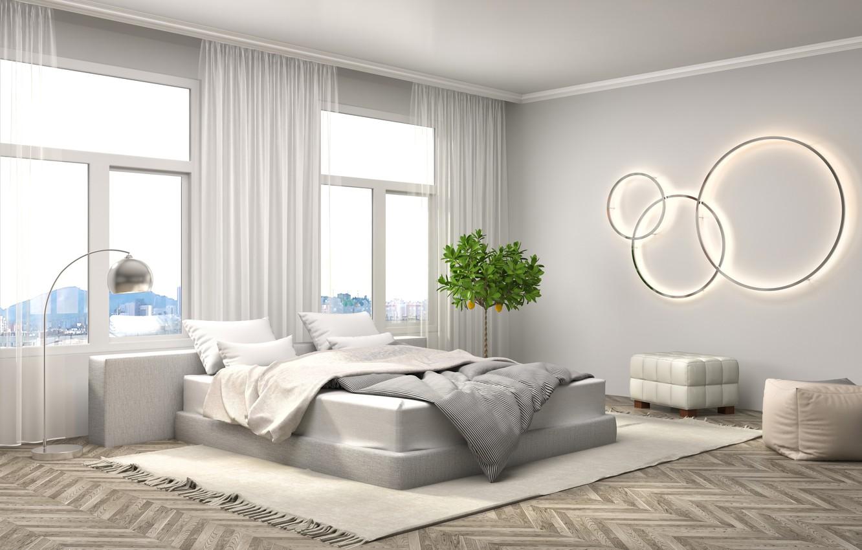 Фото обои дизайн, кровать, интерьер, спальня, модерн