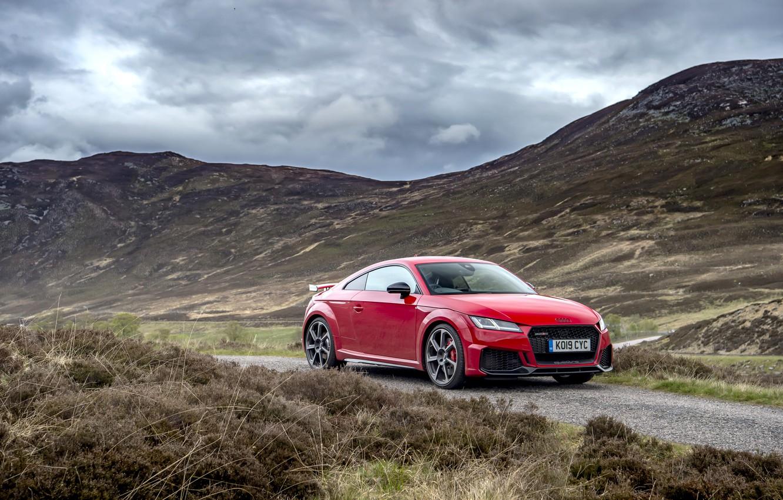 Фото обои красный, Audi, RS, TT, 2019