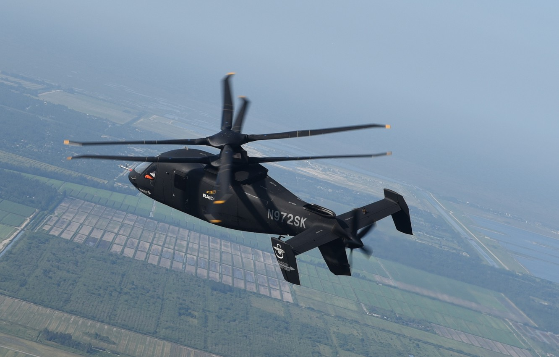 Фото обои Helicopter, Lockheed Martin, Raider, S-97