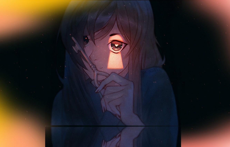 Фото обои ключ, в темноте, замочная скважина, подглядывание, сглаз