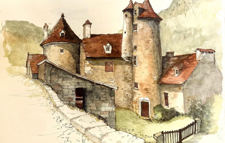 Фото обои Occitanie, Arrondissement de Figeac, Autoire