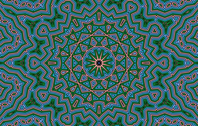 Фото обои узор, цвет, калейдоскоп