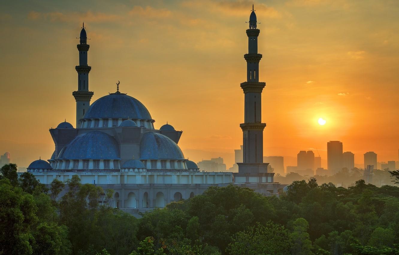 Фото обои солнце, Малайзия, Куала-Лумпур