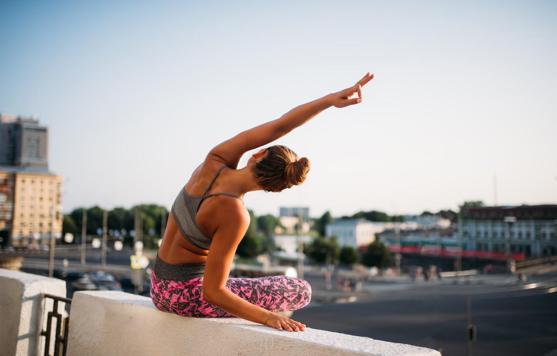 Фото обои yoga, posture, elongation