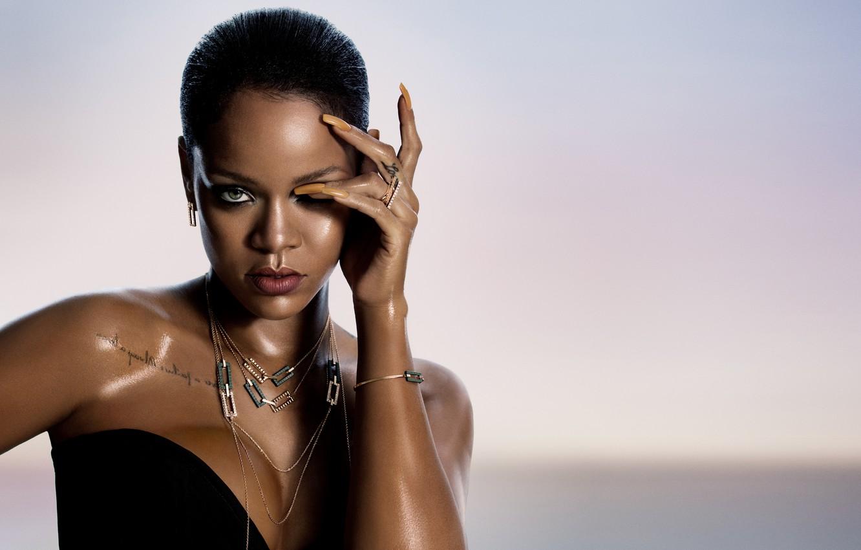Фото обои украшения, тату, Певица, Rihanna, ногти, Рианна, singer