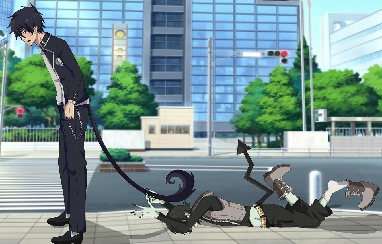 Фото обои демон, Рин Окумура, Синий Экзорцист, Ao No Exorcist
