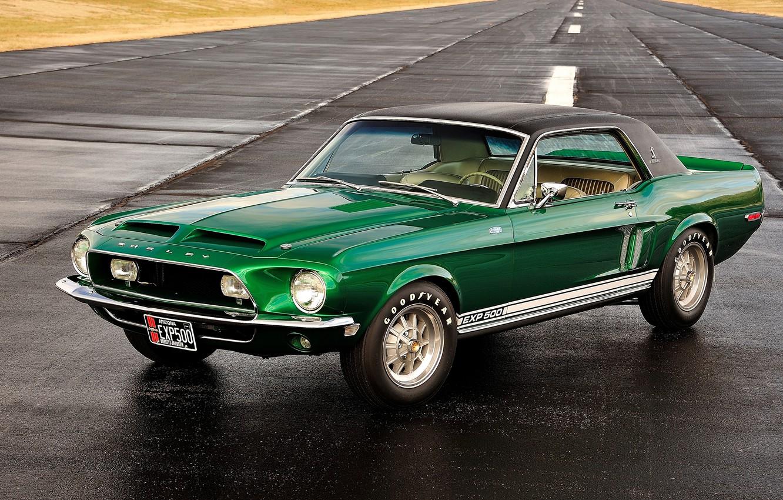 Фото обои green, wheels, road, shine, sheldy, exp500, muscul car