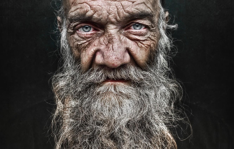 Фото обои взгляд, человек, портрет